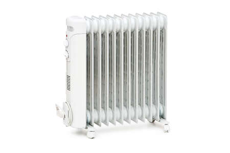 Oil radiator isolated on the white background photo