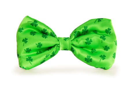 st patrick day: Green bow tie as a concept for St Patrick day
