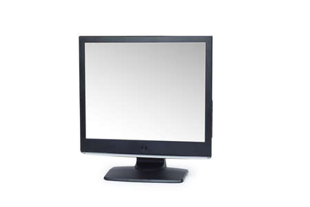 Black lcd monitor isolated on the white Stock Photo - 6622969