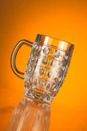 Beer glass against gradient background Stock Photo - 6709430