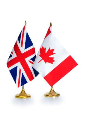 Banderas de pa�ses de habla inglesa aislado en blanco Foto de archivo - 6725152