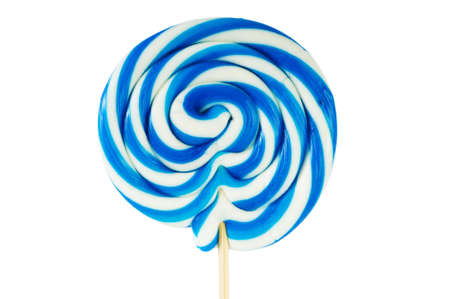 Colourful lollipop isolated on the white background photo