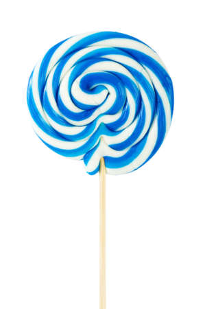 sucker: Colourful lollipop isolated on the white background