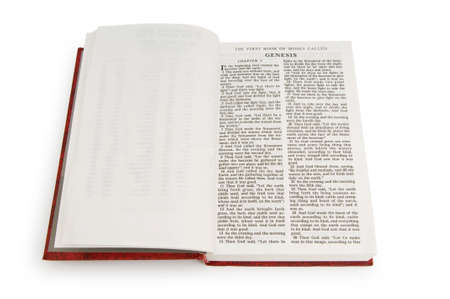 Bible book isolated on the white background photo