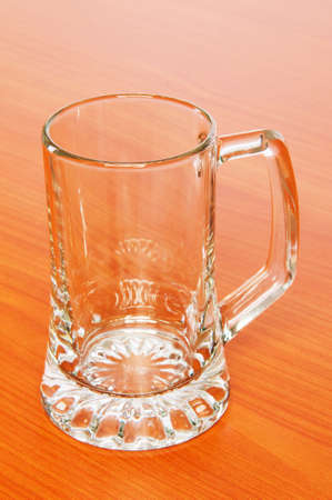 Beer glass on the wooden table Stock Photo - 6850726
