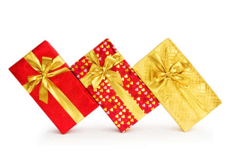 Gift box isolated on the white background photo