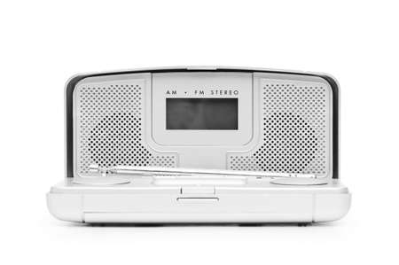 Silver radio isolated on the white background photo