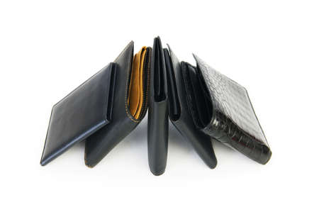 Leather wallets isolated on the white background Stock Photo - 6921916