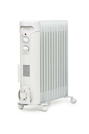 Oil radiator isolated on the white background Stock Photo - 6923828