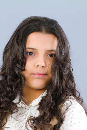 Portrait of the beautiful girl photo