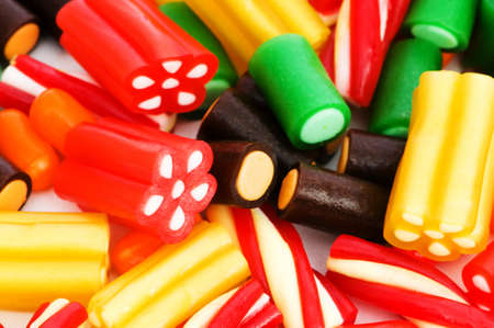 Background made of colourful sweets photo