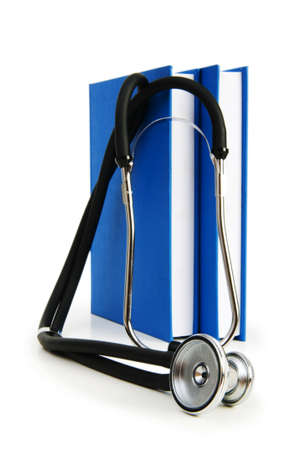 Concept of medical education with book and stethoscope Stock Photo - 6986959
