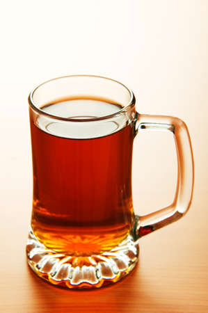 Beer glass on the wooden table Stock Photo - 6986919