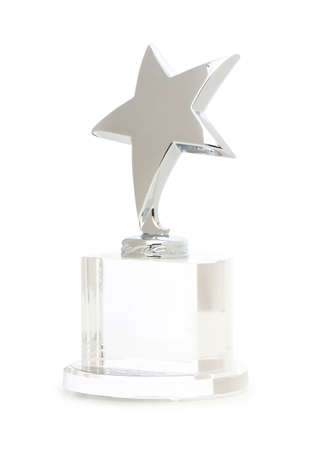 silver stars: Star award isolated on the white background