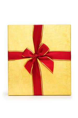 Gift box isolated on the white background Stock Photo - 7045835