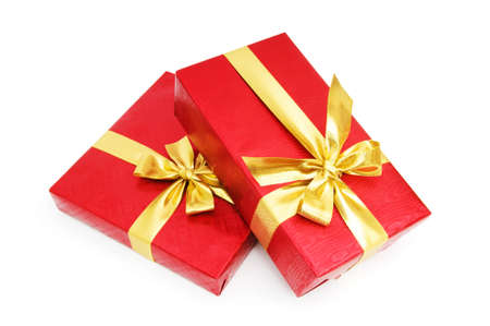 Gift box isolated on the white background photo