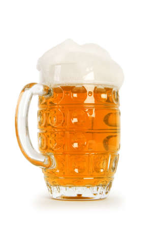 Beer glass isolated on the white background Stock Photo - 7045739