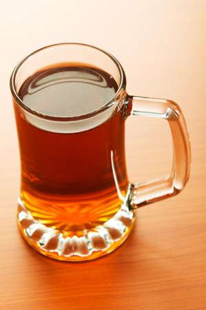 Beer glass on the wooden table Stock Photo - 7045789