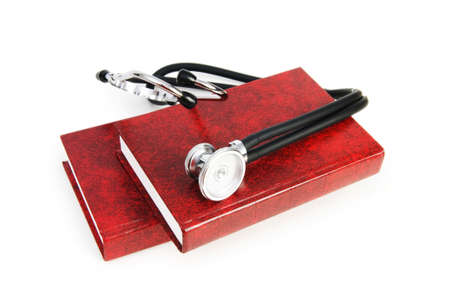 Concept of medical education with book and stethoscope Stock Photo - 7084552