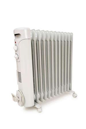 electric fixture: Radiatore olio isolato su sfondo bianco