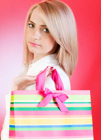Blond girl with shopping bag Stock Photo - 7095785