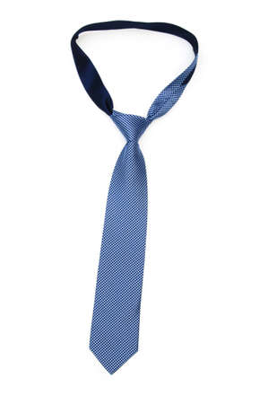 necktie: Silk tie isolated on the white background Stock Photo