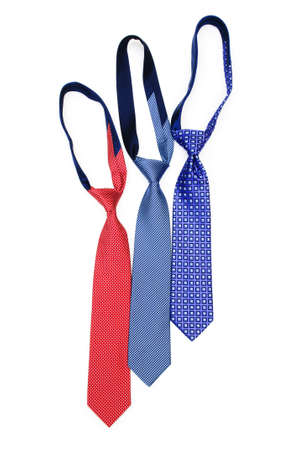 Silk tie isolated on the white background photo