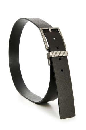 whitespace: Leather belt isolated on the white background