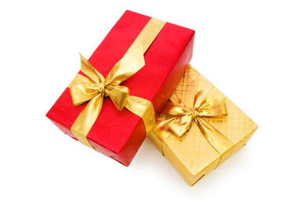 Gift box isolated on the white background Stock Photo - 7084596