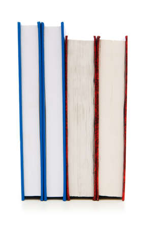 Stack of books isolated on the white background Stock Photo - 7084516