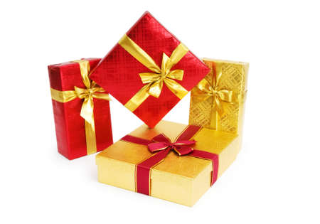 Gift box isolated on the white background Stock Photo - 7189553