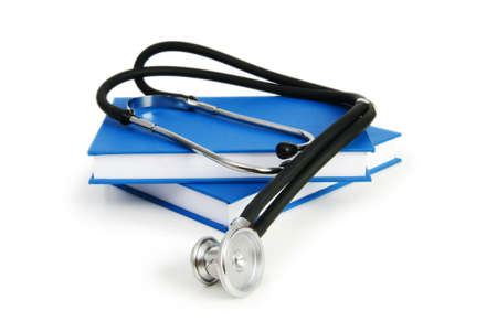 Concept of medical education with book and stethoscope Stock Photo - 7189438