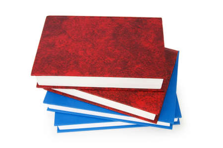 Stack of books isolated on the white background Stock Photo - 7189708