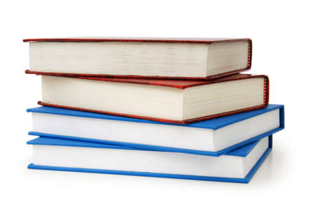 Stack of books isolated on the white background Stock Photo - 7189552