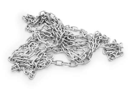 Metal chain isolated on the white background Stock Photo - 7189592