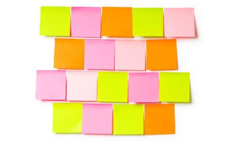 Reminder notes isolated on the white background Stock Photo - 7189491