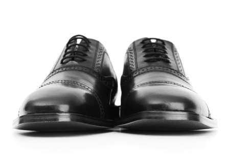 formal attire: Male shoes isolated on the white background