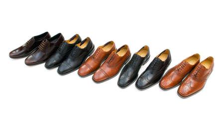 男性の靴、白い背景で隔離 写真素材