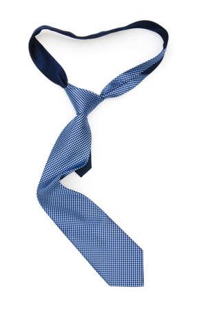 Corbata de seda aislado en el fondo blanco