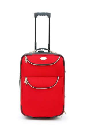 maletas de viaje: Caso de viajes aislado en el fondo blanco  Foto de archivo