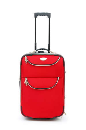 travel bag: Travel case isolated on the white background