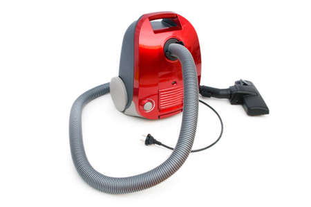 Vacuum cleaner isolated on the white background photo