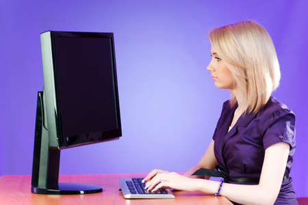 Student working at the computer Stock Photo - 7250461