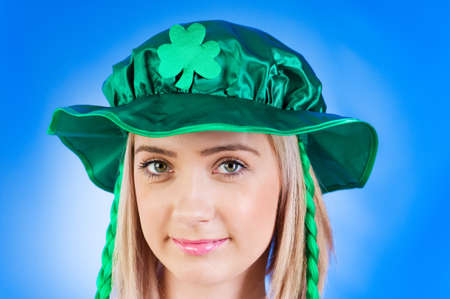 Saint Patrick day concept with young girl Stock Photo - 7250464