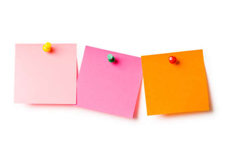 Reminder notes isolated on the white background photo
