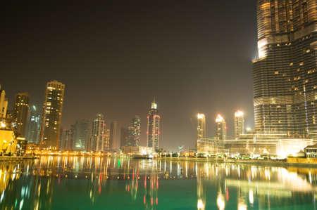 Down town of Dubai city photo