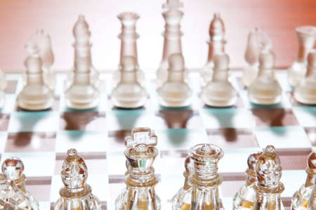 piecies: Set of chess figures on the board