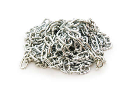 Metal chain isolated on the white background Stock Photo - 7297109