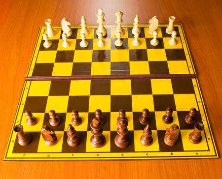 piecies: Set of chess figures on the playing board