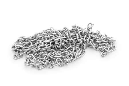 Metal chain isolated on the white background Stock Photo - 7322649
